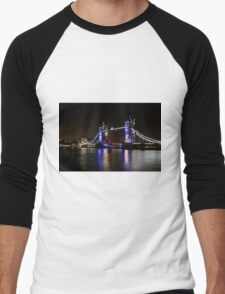 Tower Bridge, London night Men's Baseball ¾ T-Shirt