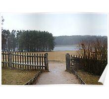 Sad landscape, rainy day Poster