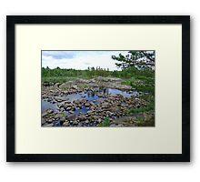 The river of granite stones, the glacier rests Framed Print