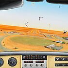Crowded Airspace, Birdsville by John  Murray