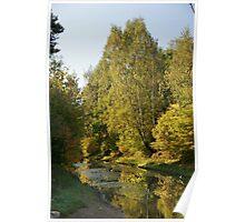 Moscow, Kuskovo, an autumn landscape Poster