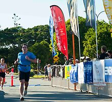 Kingscliff Triathlon 2011 Finish line B5991 by Gavin Lardner