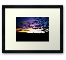Colorful  Skys Framed Print
