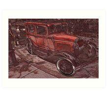 1930 Ford Town Sedan Art Print