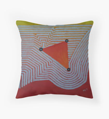 Aztec Orange Throw Pillow