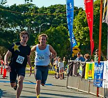 Kingscliff Triathlon 2011 Finish line B6006 by Gavin Lardner