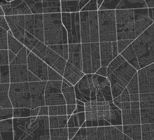 Adelaide, Australia Map. (White on black) Sticker