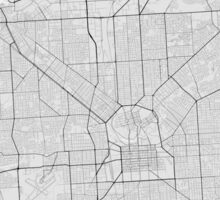 Adelaide, Australia Map. (Black on white) Sticker