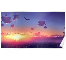 Sunset, When the sun goes down Poster