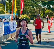 Kingscliff Triathlon 2011 Finish line B6036 by Gavin Lardner