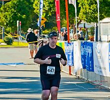 Kingscliff Triathlon 2011 Finish line B6048 by Gavin Lardner