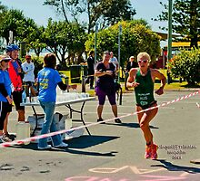 Kingscliff Triathlon 2011 Finish line B6099 by Gavin Lardner