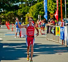 Kingscliff Triathlon 2011 Finish line B6107 by Gavin Lardner