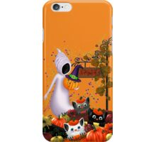 Halloween Cats and the Friendly Ghost iPhone Case/Skin