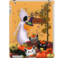 Halloween Cats and the Friendly Ghost iPad Case/Skin