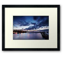Whitby Harbour, A Last Hurrah Framed Print
