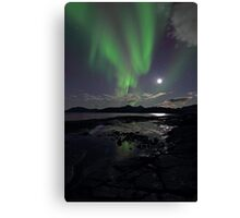 September Aurora & moon Canvas Print