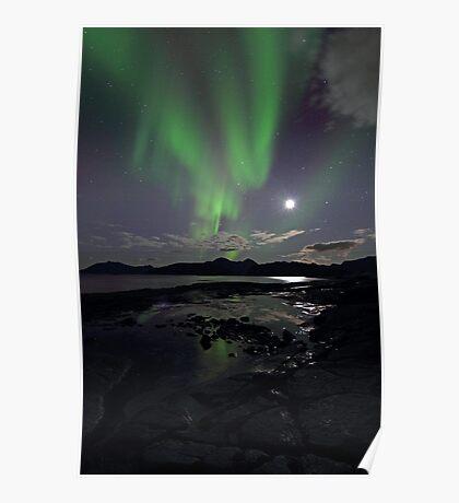 September Aurora & moon Poster