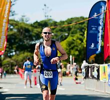 Kingscliff Triathlon 2011 Finish line B6213 by Gavin Lardner