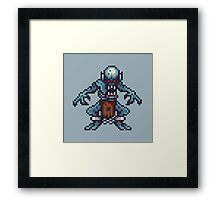 Ghoul pixel art Framed Print