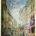 Rue de Rollebeek, Sablon, Brussels  Forgotten Postcard by Alison Cornford-Matheson