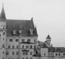 Neuschwanstein in the Fog Sticker