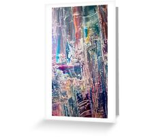 Divination towers in dream state Greeting Card