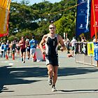 Kingscliff Triathlon 2011 Finish line B6226 by Gavin Lardner