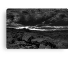 Rocks and Stormy Sky - The Peak District- United Kingdom Canvas Print