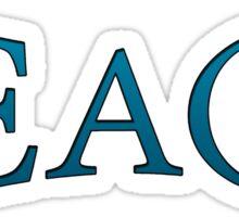 Teach Peace -Blue Sticker