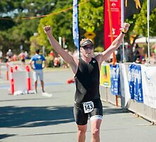 Kingscliff Triathlon 2011 Finish line B6267 by Gavin Lardner