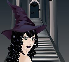 Gothic Stairs and Witch 3 by AnnArtshock