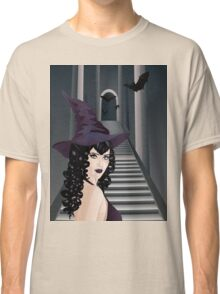 Gothic Stairs and Witch 3 Classic T-Shirt