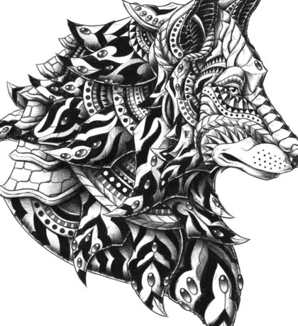 Wolf Profile Sticker