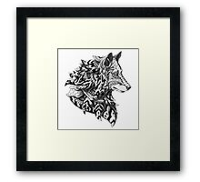 Wolf Profile Framed Print