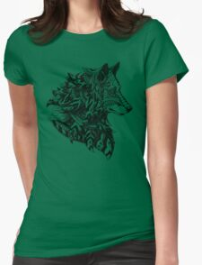 Wolf Profile Womens Fitted T-Shirt