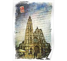 Cathedral of Our Lady, Antwerp, Belgium | Forgotten Postcard Poster