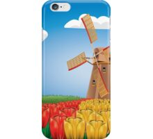 Windmill and Tulips 2 iPhone Case/Skin