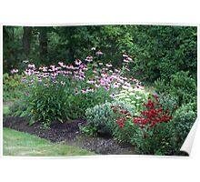 Flower Garden in Troutdale, Oregon Poster