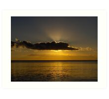 Sunset Hervey Bay Art Print