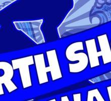 Blue North Shore Hawaii surf logo Sticker