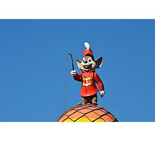 Circus Mouse Conductor Flying Elephant Photographic Print