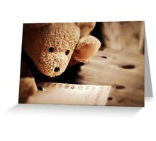 To a very special bear... Greeting Card