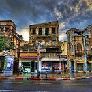 The famous Geula Allenby corner by Ronsho