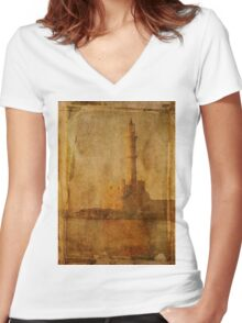 Decaying Light Women's Fitted V-Neck T-Shirt