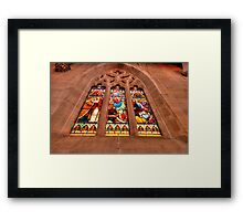 Stained Glass #1 - St Saviours Cathedral c1883 Goulburn - The HDR Experience Framed Print