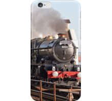 Vintage steam engine in full steam iPhone Case/Skin