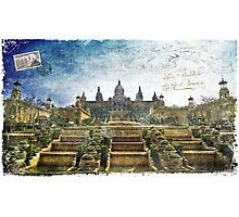 Palau Nacional, Barcelona, Spain | Forgotten Postcard Photographic Print
