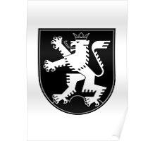 The Lion of Heidelberg (white on black) Poster