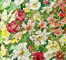 Flowers in Watercolours by David Alexander Elder